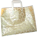 Frosted Fashion Reusable Gold Snowflake Check Bags