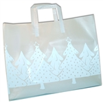 Frosted Fashion Reusable White Christmas Bags