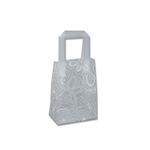 "Frosted Bags Mini - Floral Sketch White 100 Bags/Case - 5"" x 3"" x 7"""