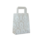 Frosted Petite Reusable White Damask Bags