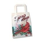 Frosted Petite Reusable Season's Greetings Cardinal Bags