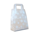 Frosted Petite Reusable White Snowflakes Bags
