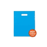 Frosted Merchandise Blue Bags 9 x 12