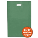 "Frosted Merchandise Hunter Green Bags 14"" x 3"" x 21"""