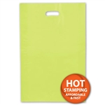"Frosted Merchandise Lime Green Bags 14"" x 3"" x 21"""
