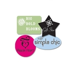 Custom Ink Printed (flexographic) Labels-Medium Shapes