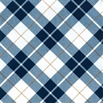 Gift Wrap Christmas Paper - Blue Textured Plaid