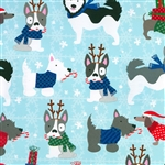 Gift Wrap Christmas Paper - Winter Dogs