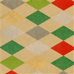 Christmas Harlequin Kraft Gift wrap