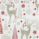 Gift Wrap Christmas Paper - Sparkling Reindeer