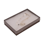 "Clear Lid with Brown Bases Jewellery Boxes 5-7/16"" x 3-1/2"" x 1"""