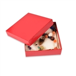 "Red Gloss Boxes - 3-1/2"" x 3-1/2"" x 1"""