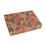 "Floral with Brown Bases Jewellery Boxes 7"" x 5"" x 1-1/4"""