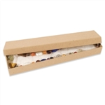 "Natural Kraft Jewellery Boxes 8"" x 2"" x 1"""