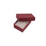 "Merlot Burgundy Kraft Jewellery Boxes - 2-7/16"" x 1-5/8"" x 13/16"""