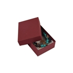 "Merlot Burgundy Kraft Jewellery Boxes - 3"" x 2-1/8"" x 1"""
