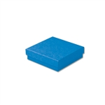 "Dark Blue Kraft Jewellery Boxes - 3-1/2"" x 3-1/2"" x 7/8"" 100 Boxes/Pack"