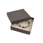 "Gray Kraft Jewellery Boxes - 3-1/2"" x 3-1/2"" x 7/8"""