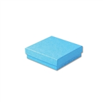 "Light Blue Kraft Jewellery Boxes - 3-1/2"" x 3-1/2"" x 7/8"" 100 Boxes/Pack"