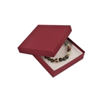 "Merlot Burgundy Kraft Jewellery Boxes - 3-1/2"" x 3-1/2"" x 7/8"""