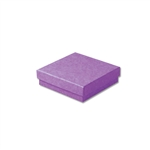"Purple Kraft Jewellery Boxes - 3-1/2"" x 3-1/2"" x 7/8"" 100 Boxes/Pack"