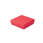"Red Kraft Jewellery Boxes - 3-1/2"" x 3-1/2"" x 7/8"" 100 Boxes/Pack"