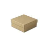 "Kraft Jewellery Boxes - 3-1/2"" x 3-1/2"" x 1-1/2"""