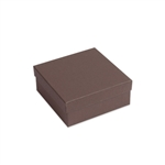 "Brown Kraft Jewellery Boxes - 3-1/2"" x 3-1/2"" x 1-1/2"""