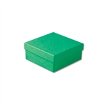 "Dark Green Kraft Jewellery Boxes - 3-1/2"" x 3-1/2"" x 1-1/2"" 100 Boxes/Pack"