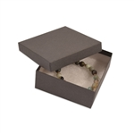"Gray Kraft Jewellery Boxes - 3-1/2"" x 3-1/2"" x 1-1/2"""