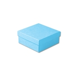 "Light Blue Kraft Jewellery Boxes - 3-1/2"" x 3-1/2"" x 1-1/2"" 100 Boxes/Pack"