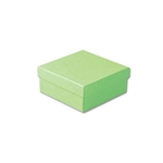 "Light Green Kraft Jewellery Boxes - 3-1/2"" x 3-1/2"" x 1-1/2"" 100 Boxes/Pack"