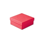 "Red Kraft Jewellery Boxes - 3-1/2"" x 3-1/2"" x 1-1/2"" 100 Boxes/Pack"