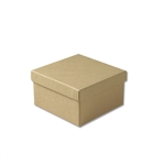 "Kraft Jewellery Boxes - 3-1/2"" x 3-1/2"" x 1-7/8"""