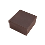 "Brown Kraft Jewellery Boxes - 3-1/2"" x 3-1/2"" x 1-7/8"""