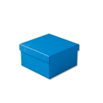 "Dark Blue Kraft Jewellery Boxes - 3-1/2"" x 3-1/2"" x 1-7/8"" 100 Boxes/Pack"