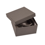 "Gray Kraft Jewellery Boxes - 3-1/2"" x 3-1/2"" x 1-7/8"""