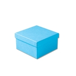 "Light Blue Kraft Jewellery Boxes - 3-1/2"" x 3-1/2"" x 1-7/8"" 100 Boxes/Pack"
