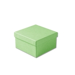 "Light Green Kraft Jewellery Boxes - 3-1/2"" x 3-1/2"" x 1-7/8"" 100 Boxes/Pack"