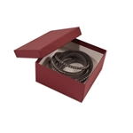 "Merlot Burgundy Kraft Jewellery Boxes - 3-1/2"" x 3-1/2"" x 1-7/8"""