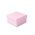 "Pink Kraft Jewellery Boxes - 3-1/2"" x 3-1/2"" x 1-7/8"" 100 Boxes/Pack"