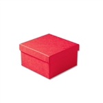 "Red Kraft Jewellery Boxes - 3-1/2"" x 3-1/2"" x 1-7/8"" 100 Boxes/Pack"