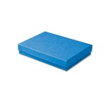 "Dark Blue Kraft Jewellery Boxes - 5-7/16"" x 3-1/2"" x 1"" 100 Boxes/Pack"