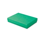 "Dark Green Kraft Jewellery Boxes - 5-7/16"" x 3-1/2"" x 1"" 100 Boxes/Pack"