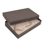 "Gray Kraft Jewellery Boxes - 5-7/16"" x 3-1/2"" x 1"""