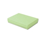 "Light Green Kraft Jewellery Boxes - 5-7/16"" x 3-1/2"" x 1"" 100 Boxes/Pack"