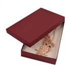 "Merlot Burgundy Kraft Jewellery Boxes - 5-7/16"" x 3-1/2"" x 1"""