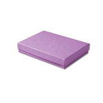 "Purple Kraft Jewellery Boxes - 5-7/16"" x 3-1/2"" x 1"" 100 Boxes/Pack"