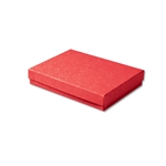 "Red Kraft Jewellery Boxes - 5-7/16"" x 3-1/2"" x 1"" 100 Boxes/Pack"