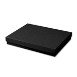 "Black Kraft Jewellery Boxes - 7"" x 5"" x 1-1/4"" 100 Boxes/Pack"